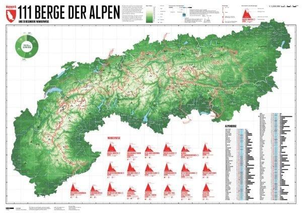 111 bergen van de Alpen
