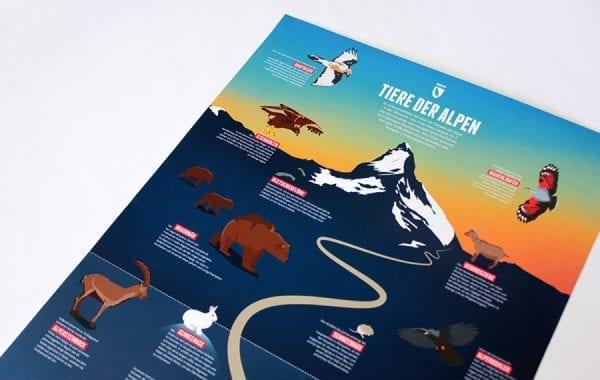 Poster dieren van de Alpen