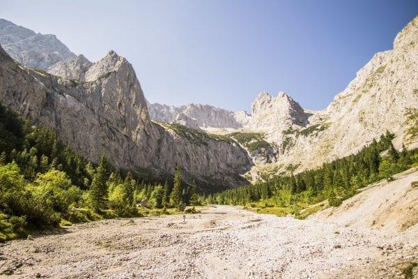 Op weg naar de top van de Zugspitze